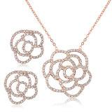ローズの花の空想項目方法吊り下げ式の宝石類セット