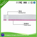 Фабрика кабеля UL подгоняет съемную кабельную проводку электропитания TPE XLPE PVC проволки быстрого кипячения силикона высокотемпературной заплетенную стеклотканью изолированную коаксиальную электрическую