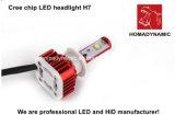 Garanzie dei mesi del faro H11 del chip LED del CREE dell'indicatore luminoso dell'automobile del LED 24 3600lm