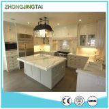 Base d'appoggio artificiale costruita della cucina di Calacatta della pietra del quarzo della scintilla