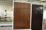 Portello esterno del progettista del teck dell'entrata di obbligazione del metallo dell'entrata d'acciaio del legno del ferro