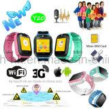 a forma de 3G WiFi caçoa o relógio esperto do perseguidor do GPS com posição tempo real Y20 de GPRS