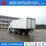 La famosa marca HOWO congelador de 4X2 camiones refrigerados van de 8 toneladas a la venta