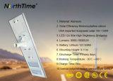 luz de rua completa inteligente do painel solar da lâmpada do diodo emissor de luz da economia de energia 90W
