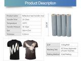 L'argent réfléchissant blanc en vinyle de transfert de chaleur pour le transfert de chaleur en vinyle de T-Shirt