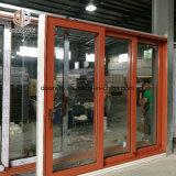 Portello scorrevole di legno di quercia con rivestimento di alluminio esterno