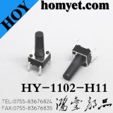 SGS Reliable China Fabricante DIP Tact Switch (HY-1102) com Long Life