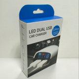 Chargeur de vente chaud de véhicule de 3.4A 2 USB avec l'Afficheur LED