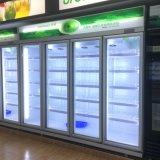 Harder van de Vertoning van het Nieuwe Product van de Ijskast van de Deur van het Glas van de Diepvriezer van Multideck van de supermarkt de Rechte