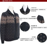 Señoras Yak Cardiganlong manga suéter de punto con cremallera