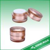 vaso cosmetico del vaso della crema di fronte 50ml, recipiente di plastica