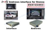 Interface de vídeo do sistema de navegação Android do carro para Toyota Sienna