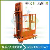 高品質半電気油圧縦順序のピッカー倉庫の上昇材料
