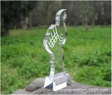 Trofeo cristalino personalizado del pulgar (KS04159)