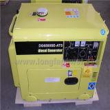 6kVA silenzioso Electric Power Portable Diesel Generator con 1 Year Warranty