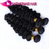 Extensão malaia humana do cabelo do Virgin natural da cor da onda profunda
