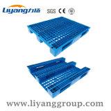 Material plástico e o tipo de entrada de 4 vias azul paletes de plástico