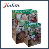 Bolsa 2017 de papel de encargo impresa insignia de la cuerda del algodón del día de la Navidad