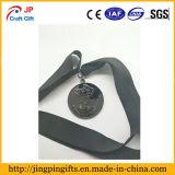 La coutume en alliage de zinc de nickel noir folâtre des médailles