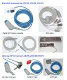Instrumentos médicos, equipamentos hospitalares, Monitor de Pacientes portátil com gravador integrado opcional, Montagem em Parede