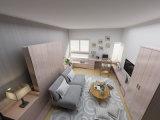 Sepsion Простой дизайн Вертикальная Наклоняемые Домашняя мебель Murphy Кровать с тумбами FJ-44