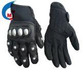 De Handschoen van de motorfiets van het Echte Leer van pvc van de Stof van het Leer Syn