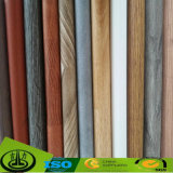 Papel decorativo del suelo de madera del grano de la impresión
