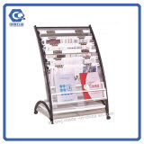 Estantes calientes baratos de los sostenedores de la visualización del papel del libro DVD del compartimiento del nivel superior de la venta