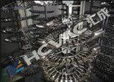 Máquina de revestimento plástica descartável da colher de prata/vácuo que metaliza a máquina para a faca plástica da forquilha da colher