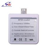 Android de proximidad RFID 125kHz Contacto Lector de tarjetas de ID.