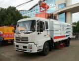 Dongfeng 6 ruedas carretera Sweeper Carretilla con barandilla Lavado y limpieza