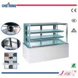 Japanic escaparate del refrigerador de la visualización de la torta de mármol de Janpan de tres capas