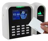 Terminal del lector de tarjetas de la identificación y del reloj de tiempo de la huella digital (T9/ID)