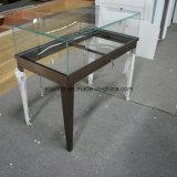 유리제 보석 전시 테이블 청동 색깔 상업적인 보석 전시