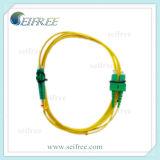 Enige Wijze 9/125 Kabels van het Koord van het Flard van de Vezel van Sc LC de Duplex Optische