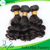 O cabelo humano do Virgin do brilho saudável natural brasileiro profundo da onda
