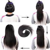 Extensão de cabelo Brasileiro Aviva encaixar na extensão de cabelo humano 20 polegadas 7 PCS para Cabeça completa (AV-CH110-20-1)