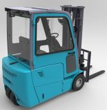 3 Wheel Electric Forklift 1800kg Lifting Height Triple Mast를 가진 6개 M
