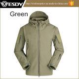 Capuz Camping à prova de desportos de casaco verde Jaqueta Militar