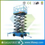14m Scissor elektrische Luftplattform des höhenruder-1000kg Aufzug