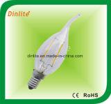 Bulbo ligero del filamento de Ca35- 2W 4W LED