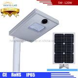 A luz de rua solar do diodo emissor de luz com ISO de RoHS do Ce aprovou