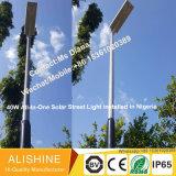 160 lumen/Watts Outdoor Products intégrée de la Lampe de Jardin tout-en-un voyant d'éclairage de rue lumière solaire avec le contrôle de plus retirées (SSL-5W-120W)