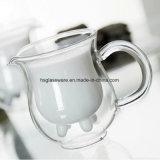 Los niños taza de zumo de vidrio de doble pared tazas de leche con mango