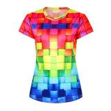 기계 여자 관례 t-셔츠를 인쇄하는 면 디지털 t-셔츠