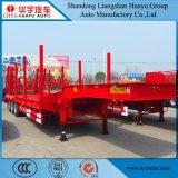 dek 2funcations Lowboy/Lowbed/Low/de Lage Semi Aanhangwagen van het Bed met Stapel