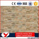 Geen Decoratieve Raad van de Muur van het Patroon van de Baksteen van het Asbest Veelkleurige Gebroken Buiten