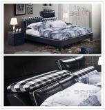 中国の頭板が付いている現代寝室の家具のニースの柔らかい革ベッド