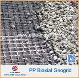 Plastique polypropylène PP PEHD PEHD uniaxiale en fibre de verre Polyester géogrille