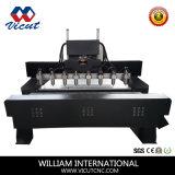 CNC Flat&Rotaryマルチヘッド彫刻家、第2の3DデザインCNC機械